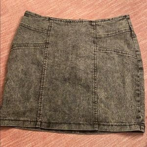 Gray Acid Wash Mini Skirt